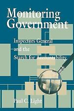 Monitoring Government: Inspectors General and the Search for Accountability (Pap