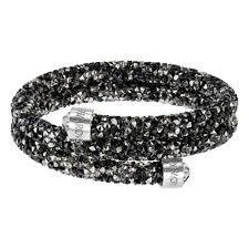 Bracciale Swarovski Crystaldust Nero Grigio Donna bracelet 5237757 DOPPIO GIRO