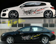 A Set New Black Dragon Totem Power Car Body Side Hood PVC Stickers Racing Decals