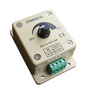 LED Dimmer 12V 24V 8A 96W Pwm Regulator Dc Cable LED Strips Stripe 12 24 Volt