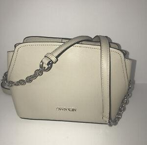 Calvin Klein Women's Hailey Micro Pebble Triple Compartment Chain Crossbody $138