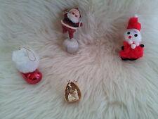 Vintage 1960s Santa Christmas Tree Decorations/Ornaments
