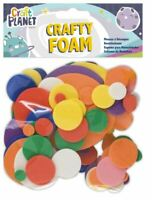 Crafty Foam Circles Round Shapes - Assorted Colours - Card Making - UK Stockist