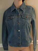 Jones New York Moby Wash(Medium Wash) Denim Jean Jacket Size S M L or XL NWT