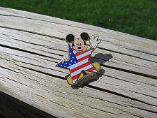 The Disney Store Mickey Mouse w/ American Flag Star United States Pin from 2001