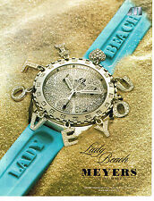PUBLICITE ADVERTISING 114  2005  MEYERS   joaillier montres LADY BEACH
