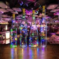 2M 20LED Solar Powered Wine Bottle Stopper Cork Fairy Decor Garden String X0S4