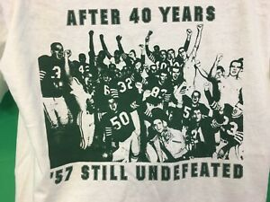 Vintage Eastern New Mexico Football 1957 Undefeated 40th Anniversary Tee NCAA