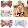 Baby Toddler Girls Hair Band Kids Bow-knot Turban Newborn Headband DIY Headwrap