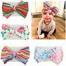 Baby Toddler Girls Hair Band Kids Bow-knot Turban Newborn Headband DIY Headwrap
