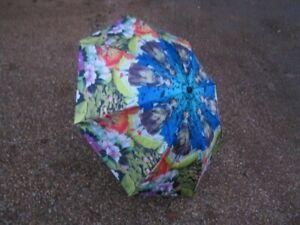 BNWT Furla Leitmotiv Folding Wizard of Oz Fun & Colourful Umbrella