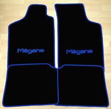Autoteppich Fußmatten für Renault Megane 1996-2002 schwarz blau 4teilig Neuware