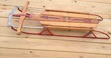 """20th Century VTG Flexible Flyer 48"""" Runner Sled Wood Metal Red Eagle Logo Nice Z"""