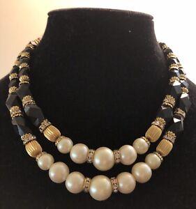 vintage faux pearl necklace estate rare