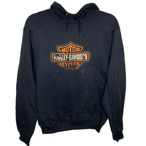 Harley Davidson Hoodie Men's *Choose Size* Black Logo Pullover Motors Logo New