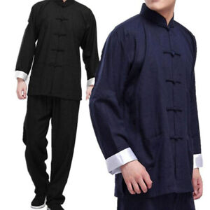 Bruce Lee Kung Fu Wing Chun Uniform Martial Arts Tai Chi Suit Outfit Tang Suit
