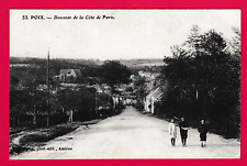 Unposted card. POIX - The descent on the outskirts of Paris