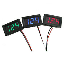 DC 3 Wire/LED Display 3-Digital Voltage Voltmeter Panel Meter Motor Car UK