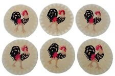 Laura Megroz for Chandler Four Corners Hooked Rug Rooster Chair Pads - set of 6