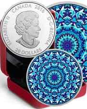 Polar Bear Kaleidoscope Canadiana $20 2016 1OZ Pure Silver Proof Coin Canada.