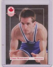 1992 CANADA SUMMER OLYMPIC CHRIS WOODCROFT WRESTLING ROOKIE CARD #179