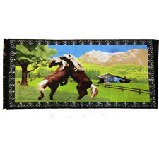 TURKEY RUG HANGING ON WALL (HORSES PLAYING)100% COTTON SIZE:(90 CM X 140 CM)