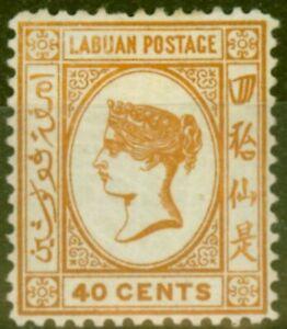 Labuan 1893 40c Brown-Buff SG47a Fein MTD Postfrisch (23)
