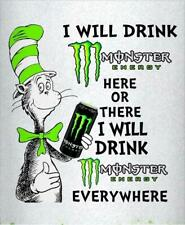 Cat in the Hat Monster Energy STICKERS DECALS