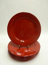 Waechtersbach Germany Fun Factory Solid Red Salad Plates Set of 4