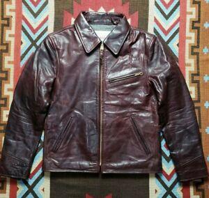 Aero Half Belt Motorcycle Riders Horsehide Leather Jacket Highwayman
