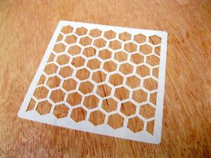 Honeycomb Effect Tile Crafting Stencil 10cm or 15cm Washable Reusable Mylar