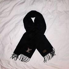 LOUIS VUITTON LV Logo Cashmere Scarf - Black. Excellent Condition. No Bag/Box.