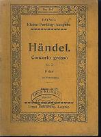 Händel : Concerto grosso No. 2 F-dur ~ Studienpartitur