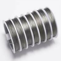 1 Roll 100M Silver Plated Copper Craft Beading Jewellery Wire For DIY Making