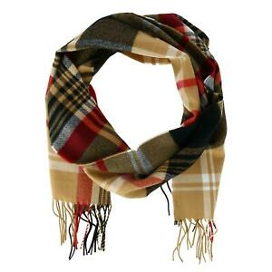 New David & Young Soft Plaid Winter Scarf