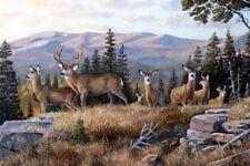 High Ridge Crossing Deer Digital Print Panel Quilt fabric Cotton by Northcott