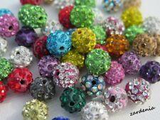 10 pcs Sparkly Polymer Clay Beads Shamballa Disco Ball Bead 10mm Shambala Beads