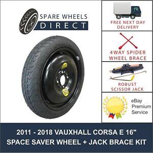 "2015 - 2018 VAUXHALL CORSA E 16"" SPARE SPACE SAVER WHEEL + JACK BRACE KIT (GM2)"
