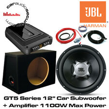"""JBL 12"""" GT5-12 GX-A3001 Amplifier and Subwoofer Deal 1100W Package Amp/Sub Deal"""
