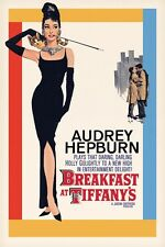 BREAKFAST AT TIFFANY'S - MOVIE POSTER 24x36 - CLASSIC AUDREY HEPBURN 39548