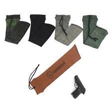 Tourbon Silicone Treated Pistol Sleeves Handgun Revolver Socks Gun 5 Color Combo
