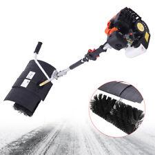 52cc 23hp Hand Held Gas Power Snow Sweeper Power Brush Sweeper Broom Driveway