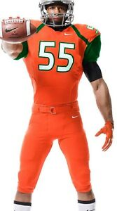 NEW Miami Hurricanes Nike Authentic Full Football Uniform Large Jersey & Pants