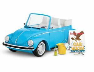 NEW American Girl JULIE'S VOLKSWAGEN BEETLE VW BUG CAR + Wash Set Sounds Lights+
