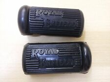 PAIR ROYAL ENFIELD 350 500CC G MODEL REDDITCH PEDAL TYPE FOOTREST RUBBER