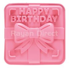Happy Birthday Pink Silicone Cake Mold Tray Square Mould Bakeware FDA Approved