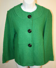 23rd St. Womens Ladies Green Boiled Wool Jacket Coat Size Small