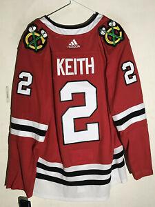 adidas Authentic Adizero NHL Jersey Chicago Blackhawks Duncan Keith Red sz 54