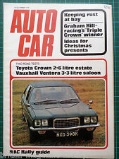 Autocar 30/11/1972 - RAC Rally Guide - Graham Hill Vauxhall Ventora Toyota Crown