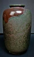 Kitamura Takashi Vintage Kutani Kosen Stoneware Vase Japanese Art Pottery